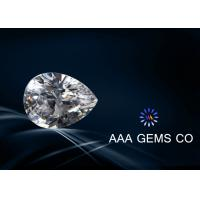 Wholesale Jewelry Pear Cut White Moissanite , Created Moissanite Size 8mm x 10mm from china suppliers