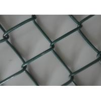 Quality 9 Gauge Wire with 50mm Hole 6' x 50' PVC Diamond Chain Link Fence with Green Color for sale