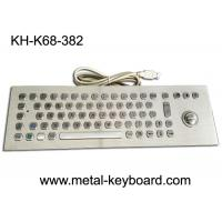 Wholesale 67 Keys Industrial Ss Metal Computer Keyboard With 25mm Laser Trackball Mouse And Buttons from china suppliers