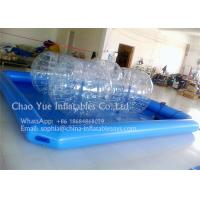 Buy cheap Kids Play Blue 0.6mm PVC Tarpaulin Inflatable Water Swimming Pool With CE Pump from wholesalers