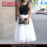 Wholesale Girls Popular Design White Elastic Waist Midi A-line Tulle Skirt from china suppliers
