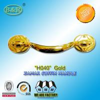 Wholesale Adult Metal Coffin Handles Antique Brass Antique Copper Gold Finish H040 size 23.5*5 cm from china suppliers