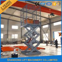 Wholesale Fixed Stationary Hydraulic Scissor Lift Tables used for Cargo Lifting 3000kgs 3.8m with CE from china suppliers