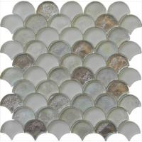 Wholesale Silver sector series water waving glass mosaic from china suppliers