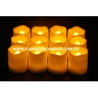 Wholesale Artificial Wax Flameless LED Votive Candles Lighting , Electronic Battery Operated LED Candles from china suppliers