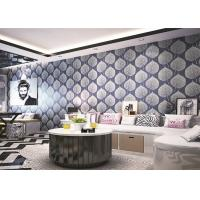 Wholesale Elegant Embossed Abstract Spring PVC Vinyl Wallpaper TV Sofa Wall Covering from china suppliers