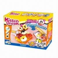Wholesale Yummy Donuts Educational Toy, Made of Flour, Nontoxic, Kid's DIY Sets, Develop Intelligence  from china suppliers