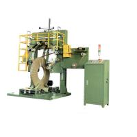 PLC Controller Wire Packing Machine , Double Layer Steel Coil Wrapping Machine HT-50L