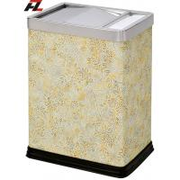 Wholesale Leather-wrapped Room Dustbin with Removable Cover from china suppliers