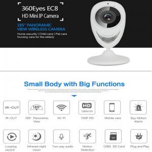 Buy cheap EC8 HD 720P Mini Wifi IP Camera Wireless P2P Baby Monitor Network Remote CCTV Surveillance DVR Camera Playback on App from wholesalers
