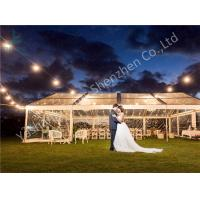 Wholesale Wind Resistant Clear Top Fabric Wedding Party Marquee Aluminum Structure on Grassland from china suppliers