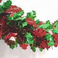 Wholesale 16-inch x 9ft x 27 Sections Foilage Shape Delux Garland in Assorted Colors from china suppliers