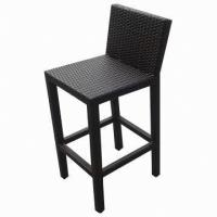 Wholesale Outdoor Furniture/Rattan Bar Chair with Electroplated Aluminum Footrest from china suppliers