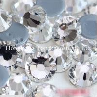 Wholesale Wholesale High quality Hotfix Rhinestone Crystal Clear Round Iron on Flat back stone from china suppliers