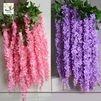 Wholesale UVG WIS006 Indoor cheap fake flowers with silk wisteria for home decoration from china suppliers
