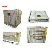 European type foldable storage cage pallet wire mesh container for hot sale