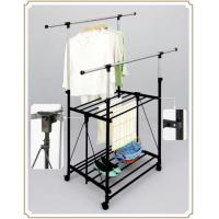 Wholesale Foldable Telescopic Metal Clothes Drying Rack Indoor Outdoor with Shelves from china suppliers