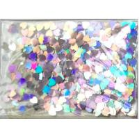 Buy cheap Heart shape PET glitter pigment for nail polish and inks and paints and christmas gift from wholesalers