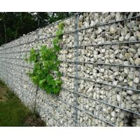 A straight gabion retaining wall composed of several welded gabion box.