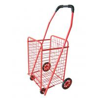 Wholesale Red 4-Wheel Steel Folding Shopping Cart from china suppliers