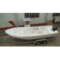 Wholesale White 6.8m Fiberglass Fishing Boats 120L Fuel Tank 3 Rod Holders  With Trailer from china suppliers