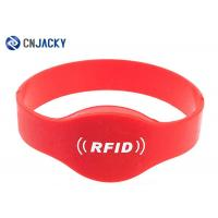 China Reusable Silicone NFC RFID Wristband Waterproof , RFID Bracelet For Swimming Pool on sale