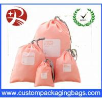 Wholesale Rope Customized Promotional Drawstring Gift Pouches , Polyester Drawstring Bag from china suppliers