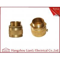Wholesale 20mm 25mm Brass Flexible Conduit Adaptor With Screw Nickle Plated , ISO9001 listed from china suppliers