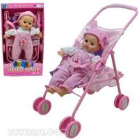 Wholesale Doll - Baby Doll Buggy Stroller Set with Sound (DDC63063) from china suppliers