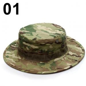 Wholesale Military Camouflage Boonie Bucket Hats Army Hunting Outdoor Hiking Fisherman Cap from china suppliers