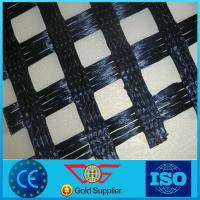 Wholesale Reinforcing Warp Knitted polyester Geogrid 40kn/m pvc coated from china suppliers
