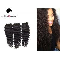 Wholesale Deep Wave Bundles Double Drawn Hair Extensions 7A Virgin Cuticle from china suppliers
