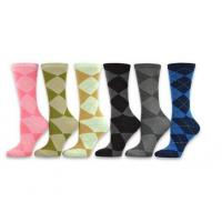 Wholesale Women's Ladies Value 6-Pack Crew Socks, Argyle, Nordic, Stripe, Flower from china suppliers