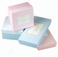 Wholesale Cardboard Jewelry Gift Boxes , Cardboard Gift Boxes Stripe Words Pattern from china suppliers