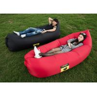 Wholesale Red / Black / Pink Color Inflatable Sleeping Bag With Side Pocket Nylon Material from china suppliers