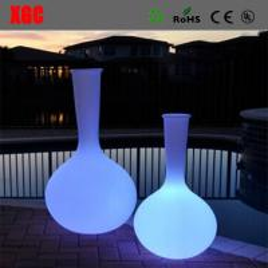 Wholesale LED Flowervase Plastic Lit Flower Vase Environmental Material Vase from china suppliers