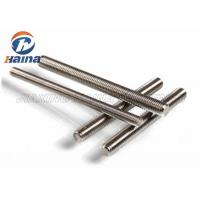 Quality 316 Stainless Steel Stud Bolts , Double End Metric Threaded Rod For Industrial for sale