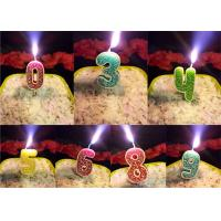 Wholesale Rose Design Number 0-9 Candles With Pick For Birthady Party , Customized Color from china suppliers