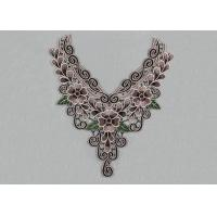 Wholesale Venice Lace Applique Multi Color Lace Collar Applique With Floral Embroidery For Dresses from china suppliers