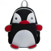 Wholesale Black Pretty Toddler Book Bag Reduced Pressure Shoulder Straps Penguin Design from china suppliers