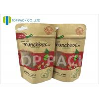 Wholesale Customized Stand Up Food Pouches For Nuts , Clear Window Kraft Paper Pouches from china suppliers