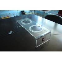 Wholesale Personalized 8mm Clear Acrylic Pet Bowl Stand 500 * 220 * 150mm from china suppliers