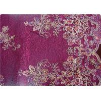 Wholesale Purple Home Textile Embroidered Fabrics High End Apparel Fabric from china suppliers