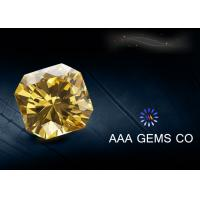 Wholesale Synthetic Light Yellow Moissanitte Fancy Cutting Shape , Jewelry Moissanite from china suppliers