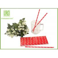 Wholesale Cute Design Red And White Party Paper Straws For Hot Drinking Diameter 6mm from china suppliers
