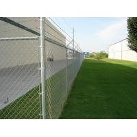 Wholesale ASTM F668 standard PVC coated chain link fence with extruded and bonded coating, green col from china suppliers