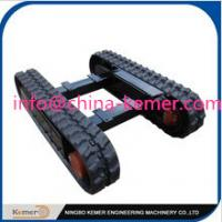 Professional rubber undercarriage/engineering track undercarriage/crawler chassis/worm chasis