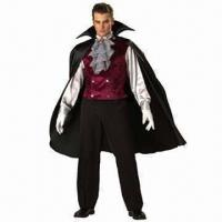 Wholesale Men's Classic Vampire Costumes, Available in Various Sizes from china suppliers