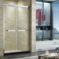 Wholesale Tempered Glass Shower Double Sliding Door 304# Stainless Steel Frame from china suppliers