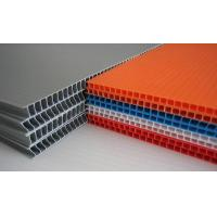 Quality Grey / Orange / Green Flame Retardant PP Hollow Sheet For Floor Protection for sale